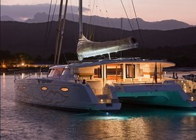 Panel luxury catamaran charter corsica sardinia moby dick 83