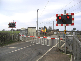 Panel warkworth level crossing   geograph.org.uk   367129
